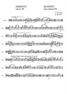 Quintet: Movement IV - part of bassoon by Alexander Bystrov