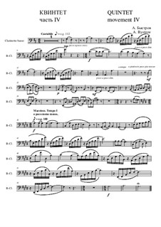 Quintet: Movement IV - part of clarinetto basso (bass clef) by Alexander Bystrov