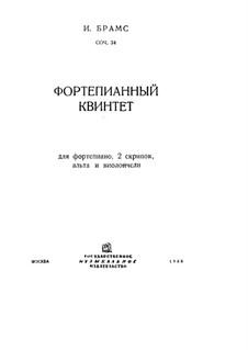 Piano Quintet in F Minor, Op.34: Full score by Johannes Brahms