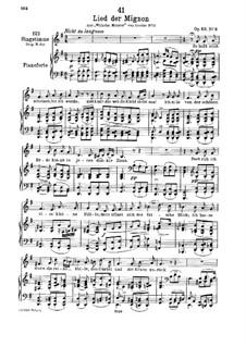 No.3 Song of Mignon: G Major by Franz Schubert