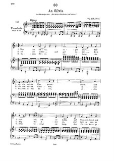 An Sylvia (To Sylvia), D.891 Op.106 No.4: For low voice and piano by Franz Schubert