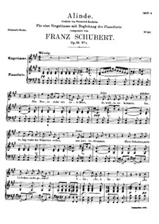 Alinde, D.904 Op.81 No.1: For high voice and piano by Franz Schubert