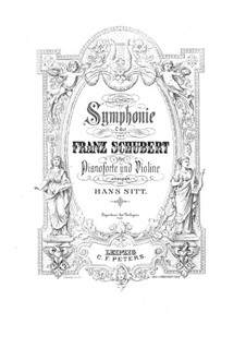 Symphony No.9 in C Major 'The Great', D.944: Arrangement for violin and piano – solo part by Franz Schubert