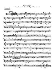 Symphony No.9 in C Major 'The Great', D.944: Trombones parts by Franz Schubert