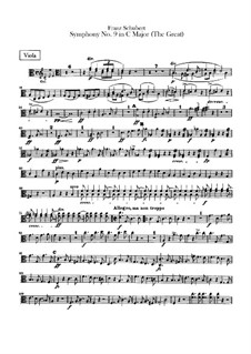 Symphony No.9 in C Major 'The Great', D.944: Viola parts by Franz Schubert
