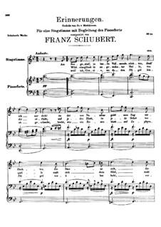 Erinnerungen (Memories), D.98: B flat Major by Franz Schubert
