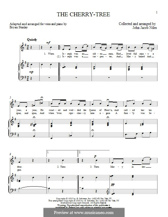 The Cherry-Tree: For voice and piano by Bryan Stanley