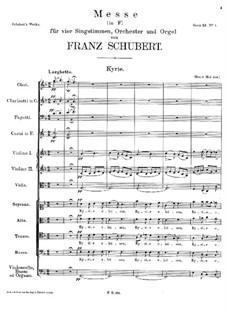 Mass No.1 in F Major, D.105: Kyrie by Franz Schubert