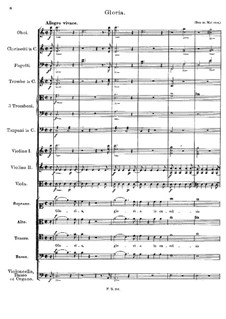 Mass No.1 in F Major, D.105: Gloria by Franz Schubert