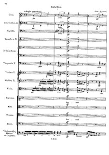 Mass No.1 in F Major, D.105: Sanctus by Franz Schubert