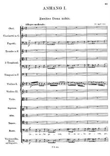 Mass No.1 in F Major, D.105: Dona nobis pacem II (Appendix I) by Franz Schubert