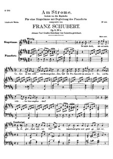 Am Strome (By the River), D.539 Op.8 No.4: For high voice and piano by Franz Schubert