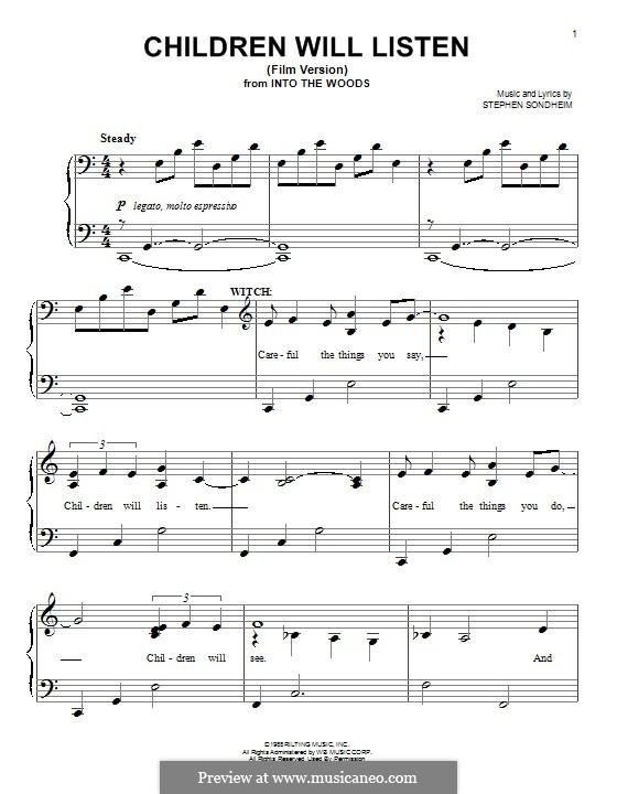 Children Will Listen: For piano by Stephen Sondheim