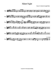 Silent Night (Downloadable): For viola by Franz Xaver Gruber