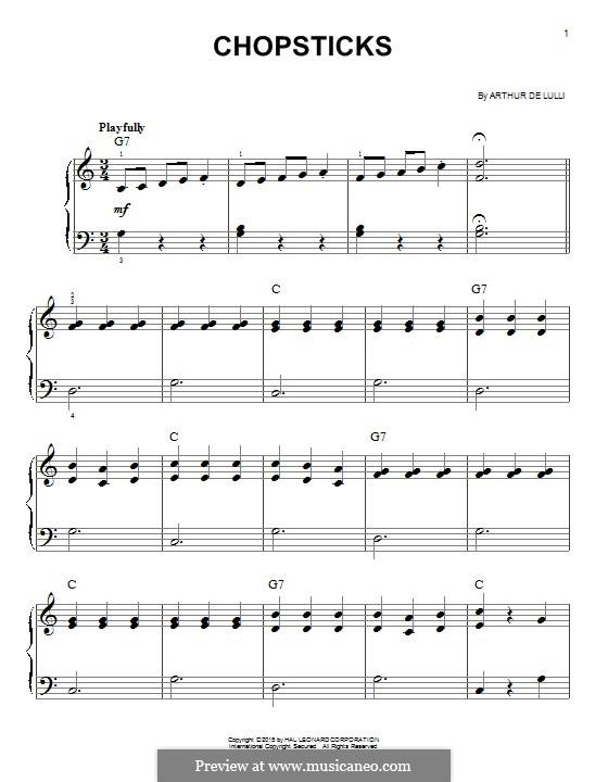 Chopsticks: For piano by Arthur De Lulli