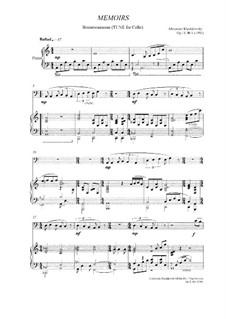 Memoirs, Op.11 No.1: Memoirs by Alexander Khodakovsky