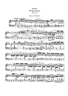 Four Impromptus for Piano, D.935 Op.142: Complete set by Franz Schubert