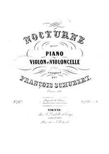 Nocturne for Piano, Violin and Cello, D.897 Op.148: Full score, parts by Franz Schubert