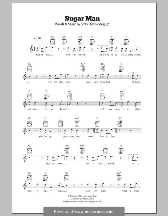 Sugar Man By Sd Rodriguez Sheet Music On Musicaneo