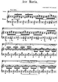 Ave Maria, for Two Instruments, D.839 Op.52 No.6: For violin and piano in C Major by Franz Schubert