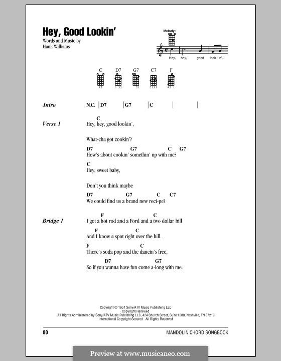 Hey, Good Lookin': For mandolin by Hank Williams