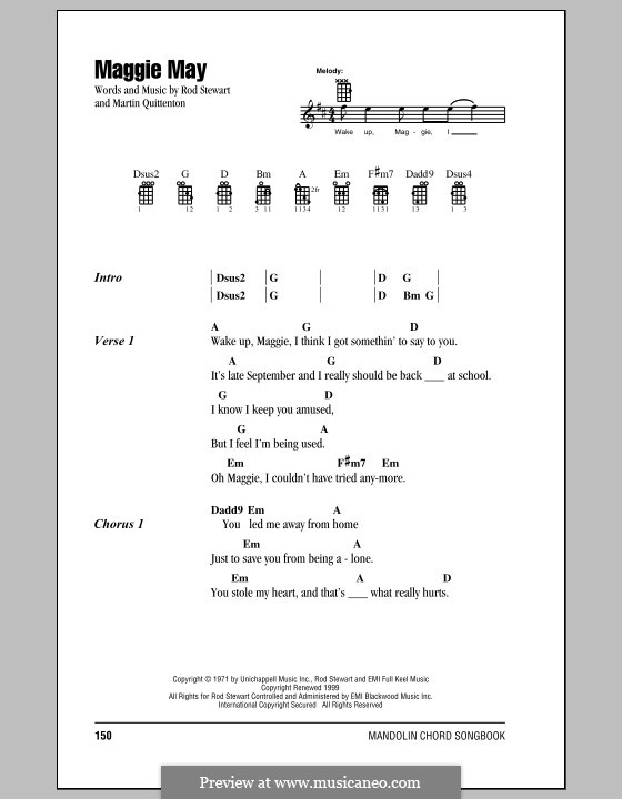 Maggie May By M Quittenton R Stewart Sheet Music On Musicaneo