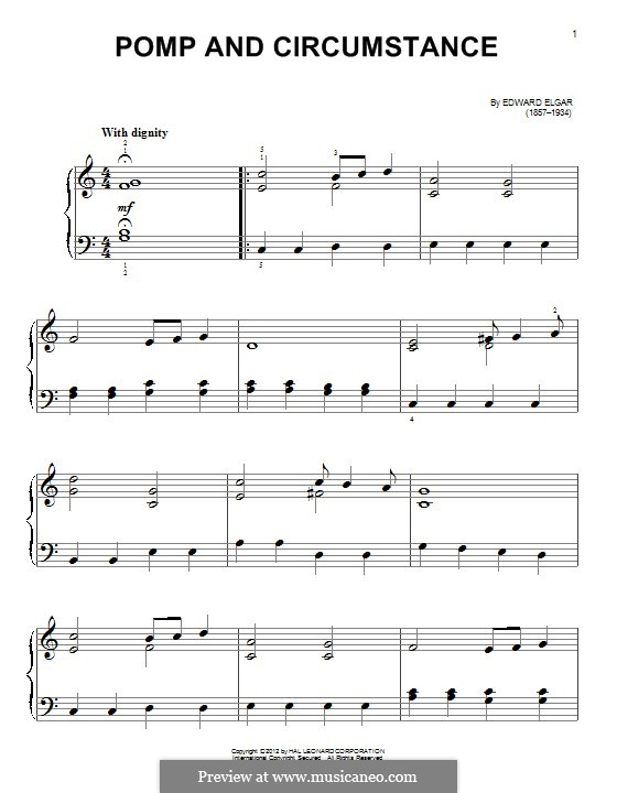 Pomp and Circumstance: For piano by Edward Elgar