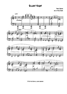 Silent Night, for Piano: For a single performer by Franz Xaver Gruber