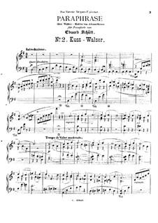 Concert Paraphrase on 'Kiss-Waltz' by J. Strauss: Concert Paraphrase on 'Kiss-Waltz' by J. Strauss by Eduard Schütt