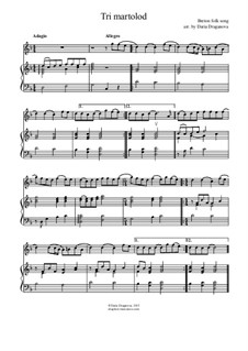 Tri martolod yaouank (Three young sailors): For instrument in C and piano by folklore