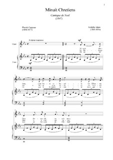 O Holy Night (Piano-vocal score): For voice and piano by Adolphe Adam
