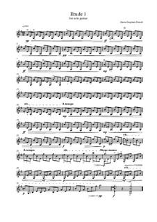 Etude for solo guitar: Etude for solo guitar by David Stephen Powell