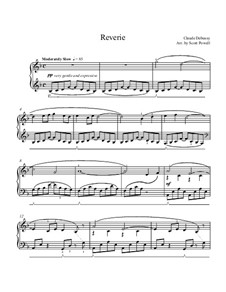 Rêverie, L.68: For piano by Claude Debussy