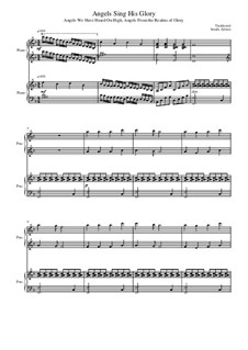Angels Sing His Glory: For two pianos four hands by folklore