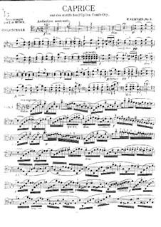 Caprice on 'Le comte Ory' by Rossini, Op.3: Solo part by Adrien-François Servais