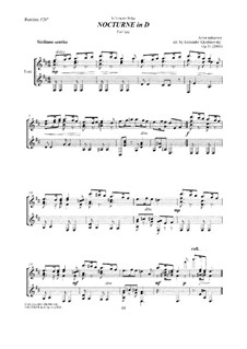 Nocturne in D: Nocturne in D, Op.31 by Unknown (works before 1850)