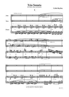 Trio Sonata for flute, oboe and piano, B49: Trio Sonata for flute, oboe and piano by Colin Bayliss
