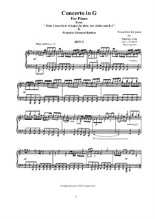 Flute Concerto in G Major: Arrangement for piano - I Allegro spiritoso, CS 1.137/1 by Giovanni Battista Pergolesi