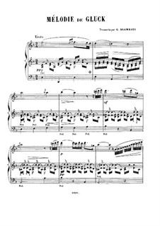 Melody: For piano by Christoph Willibald Gluck