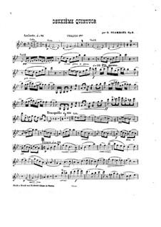Piano Quintet No.2 in B Flat Major, Op.5: Violins parts by Giovanni Sgambati