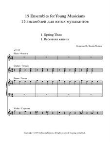 15 Ensembles for Young Musicians: 15 Ensembles for Young Musicians by Ksenia Nemera
