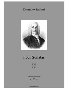 Four Sonatas, K.391, K.208, K.209, K.162: Four Sonatas by Domenico Scarlatti