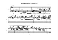 3 Solitudes for the left hand: No.2, MVWV 862 by Maurice Verheul