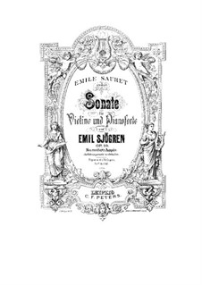Sonata for Violin and Piano No.1 in G Minor, Op.19: Solo part by Emil Sjögren
