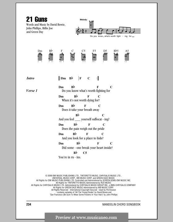 21 Guns (Green Day) by B.J. Armstrong, D. Bowie, Tré Cool, J ...
