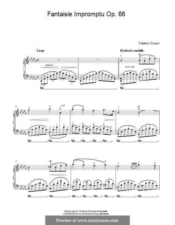 Fantasia-Impromptu in C Sharp Minor, Op.66: Largo by Frédéric Chopin