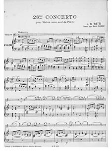 Violin Concerto No.28 in A Minor: Version for violin and piano by Giovanni Battista Viotti