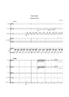 Waltz 'Grammophone': For orchestra by Eugen Doga