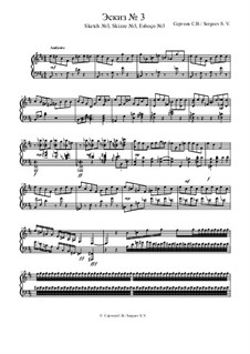 Sketch No.3, Op.1: Sketch No.3 by Sergey Sergeev