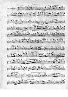 Quartet for Flute and Strings No.1 in G Minor, Op.71: Flute part by Traugott Maximilian Eberwein